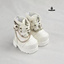 Yosd Shoes 1/6 BJD Shoes Tiny Lolita White Boots Dollfie Luts Dollmore AOD DOD