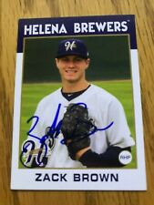 Zack Brown 2016 Helena Brewers Autographs Signed Team Card