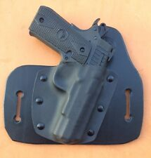 "Leather/kydex hybrid OWB holster Rock Island Armory M1911 A .380 ""Baby Rock"""