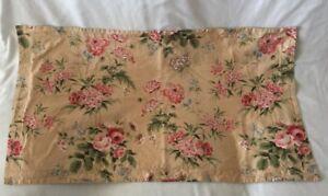 Martha Stewart light brown Floral King Pillow Sham (1) 100% Decorator Cotton