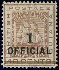 British Guiana  1881  Scott #  97  Mint Lightly Hinged