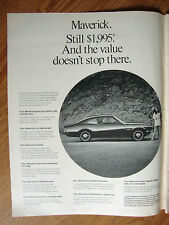 1970 Ford Car Lines Ad Mustang LTD Torino Maverick Galaxie Wagons 5 Pages