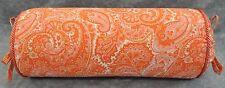 NEW Corded Pillow made w Ralph Lauren Harbor View Orange Paisley Cotton Fabric