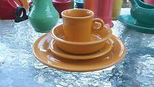 4 piece place SETTING marigold t & j MUG FIESTA new