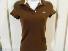 Hollister Brown Polo Shirt - Medium - EUC