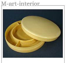 ART Deco Celluloid BARATTOLO CON SPECCHIO-Ivory Pyralin box with mirror 1940-1950