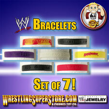 WWE Rubber Bracelet Set of 7 Special Deal