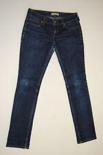 LEVIS 571 SLIM FIT Jeans Pantaloni Blu Scuro Stonewashed w31 l32