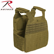 Rothco Laser Cut MOLLE Plate Carrier Vest Coyote Brown