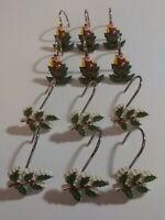 CHRISTMAS Shower Curtain Hooks (set of 12)