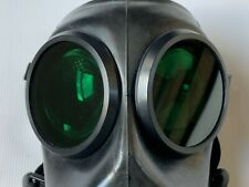 More details for fm12 gas mask lenses genuine sas green rubber outserts (gas mask not included)