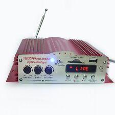 MA-200 Mini Digital Audio Player 4 Channel USB SD MP3 FM Car Stereo Amplifier