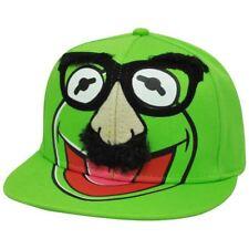 Disney Groucho Kermit Frog Muppets Puppets Hair Snapback Flat Bill Felt Hat Cap