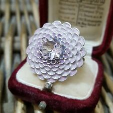 GEMPORIA STERLING SILVER COCKTAIL RING, ROSE DE FRANCE AMETHYST, SIZE P½,NEW,COA