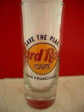 HRC hard rock cafe san Francisco stp save the planet shotglass Emaillé New
