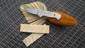 Custom Knife Messer Damast Klinge Drop Point Messermacher Messerbauer
