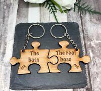 Personalised Keyrings Set of 2 Valentines Gift Birthday Present Anniversary Gift