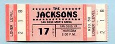 Original Michael Jackson 1981 The Jacksons Triumph Tour Unused Concert Ticket