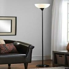 Floor Lamp, 71 Inch Tall Living Room Bedroom Standing Light Scoop Shade (Black)