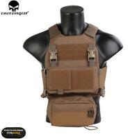 Emerson FCS Tactical Combat Vest w/MK Chest Rig SET Molle Plate Carrier Holder