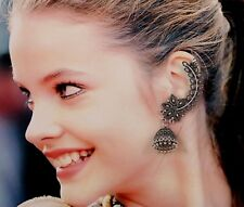 Oxidized Silver Antic Finish Designer Ear Cuff Clip On Trendy Earrings For Women