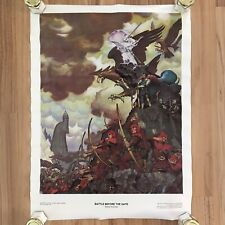 Battle Before The Gate Lord of the Rings Vtg 1976 Steve Hickman Poster Lotr