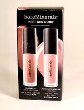 BAREMINERALS MEET GEN NUDE Mini Matte Lipcolor & Buttercream Lip Gloss New Other