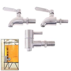 Wine Barrel Water Spigot Tap 304 Stainless Steel Faucet Beer Beverage Dispens MD
