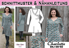 pdf.Schnittmuster Ebook Kleid / Oberteil Charlotte Gr.:36-50