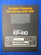 Pioneer KP-410 Car Cassette Sales Brochure Factory Original The Real Thing