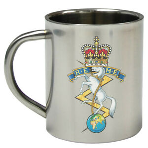 Royal Electrical Mechanical Engineers REME 8oz Stainless Steel Military Mini Mug