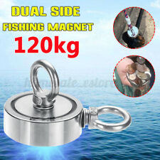 120KG Neodymium Salvage Powerful Recovery Fishing Hunting Double Sided Magnet
