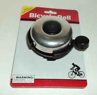 MOMENTUM BRANDS Bicycle Bell Easy Pull Lever Fits Most Bike Handlebars Carded