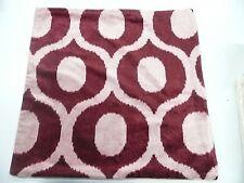 """Pottery barn Carmen Velvet Pillow Cover 18"""" Red Pink Velvet Ikat"""