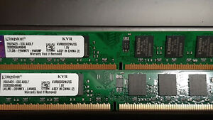 Kingston 4GB Kit (2x 2GB) KVR800D2N6/2G- DDR2 800MHz DIMM Desktop Memory RAM