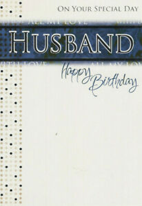 On your special day Husband Happy Birthday Card
