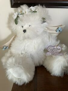 Annette Funicello WHITE BLUE  Angel  Teddy  Bear  12""