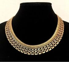 rolo link snake~Krn0085~Good As Gold Silpada Brass Necklace wide collar New~Kr~