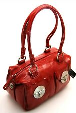 Mimco Mini Turnlock Zip Top Bag Patent Leather in Slasher Red