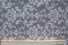 Stoff Baumwolle-Polyester beschichtet, Cadiz, Ornamente, hellgrau/weiß140 cm