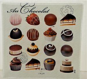 "Michel Design Works Au Chocolat Paris 6"" x 6""  Glass Plate"