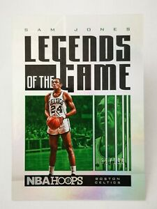 Panini Hoops 2020-21 N20 NBA Legends of the Game #43 Sam Jones /199 Celtics
