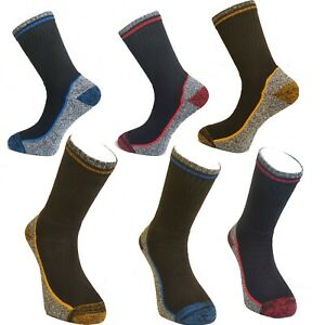 Mens Heavy Duty Thick warm Cushioned Sole Cotton Reinforced Heel Toe Work Socks