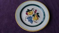 Stangl  Round Platter Terra Rose Fruit Design Hand Painted Chop Plate 12.5 USA