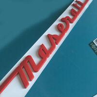 Autozubehör hinten Emblem Aufkleber Abziehbild Abzeichen rote Logo für Maserati