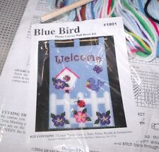 Design Works BLUEBIRD WELCOME Wall Hanging Plastic Canvas Kit