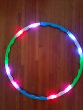 "Kids Light Up Hula Hoop 30"" LED Toy Dance Spinning Lighted Future Hoop EDC"