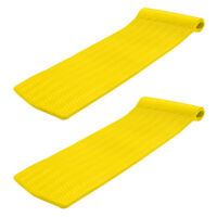 TRC Recreation Serenity 70 Inch Foam Raft Lounger Pool Float, Yellow (2 Pack)