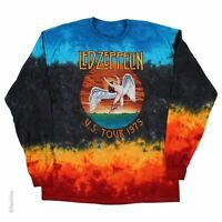 LED ZEPPELIN-ICARUS 1975-TIE DYE LONG SLEEVE SHIRT S-M-L-XL-XXL  Page, Plant
