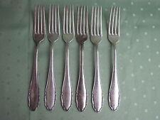 Sechs schöne WMF Tafel-Gabeln aus 800er Silber in Dekor 2200